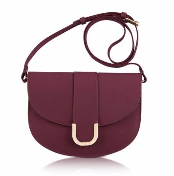 A.P.C.-Purple Soho Lie De Vin Leather Crossbody Bag