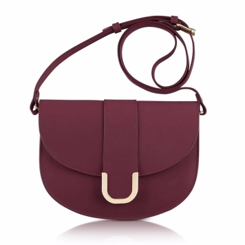 A.P.C.-Purple Soho Lie De Vin Leather Crossbody Bag