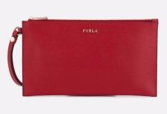 Furla- Red Babylon Xl Envelope Clutch Bag