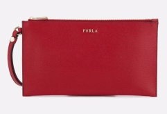 Furla- Red Babylon Xl Envelope Clutch Bag