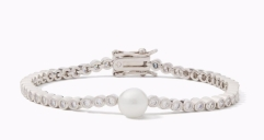 Kate Spade New York-Metallic Precious Pearls Bracelet