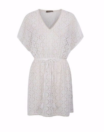 Oasis- Women's White Lace Kaftan2