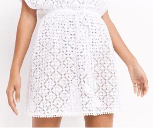 Oasis- Women's White Lace Kaftan4