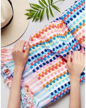 Seafolly-Blue Rainbow Beach Towel