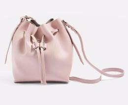 TOPSHOP- Pink Ring Drawstring Bucket Bag